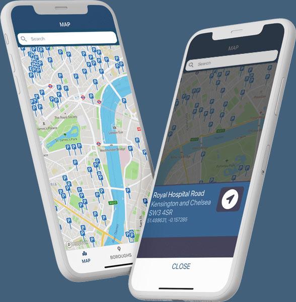 London Bike Bays app search
