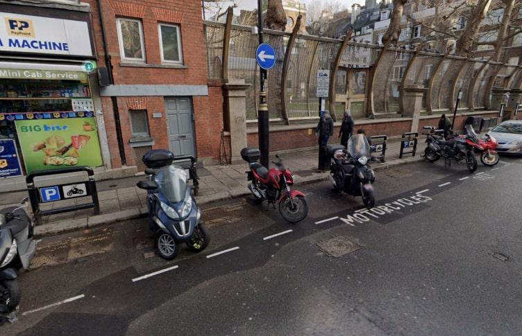 Motorcycle bay sizes